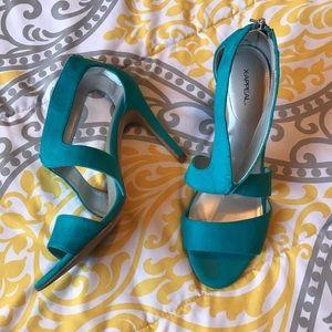 Turquoise Blue heels